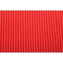 Gurtband einfarbig rot 50 mm  Breite aus Polypropylen