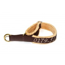 Zugstophalsband_20mm_Fleece_braun_camel